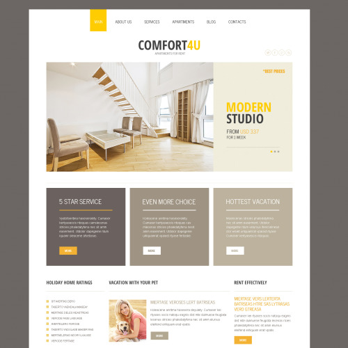 Comfort 4U - Joomla! Template based on Bootstrap