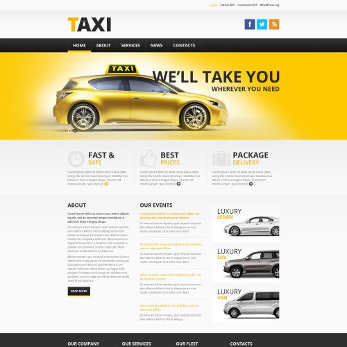 Taxi  - WordPress Template based on Bootstrap
