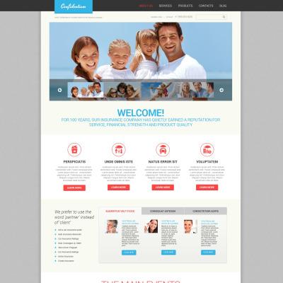 Tema de WordPress #46383 para Sitio de Seguros