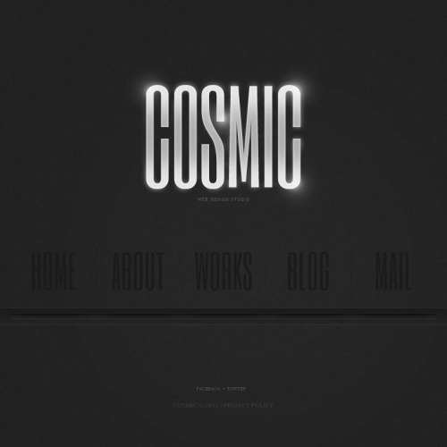 Cosmic - Facebook HTML CMS Template