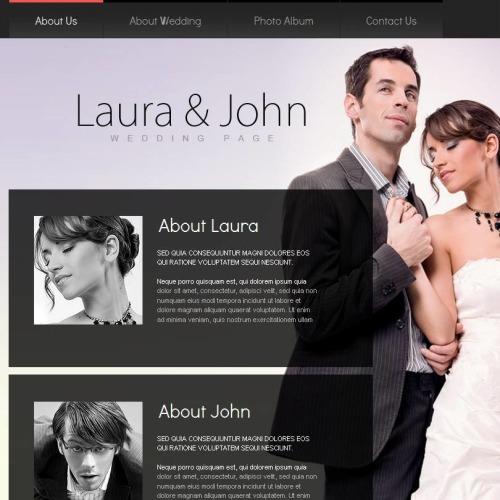 Laura & John - Facebook HTML CMS Template