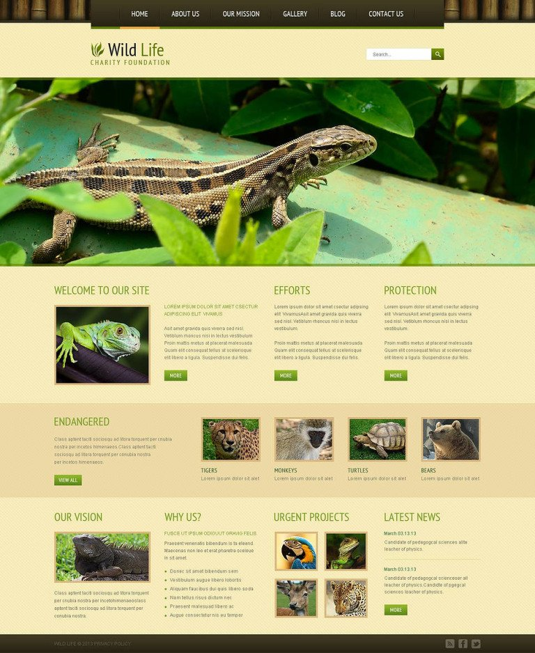 Wild Life Responsive Joomla Template New Screenshots BIG