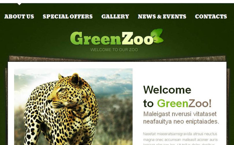 zoo facebook html cms template 46325