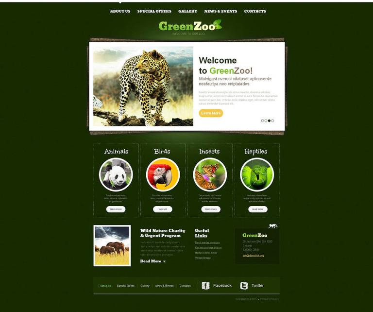 Zoo Moto CMS HTML Template New Screenshots BIG