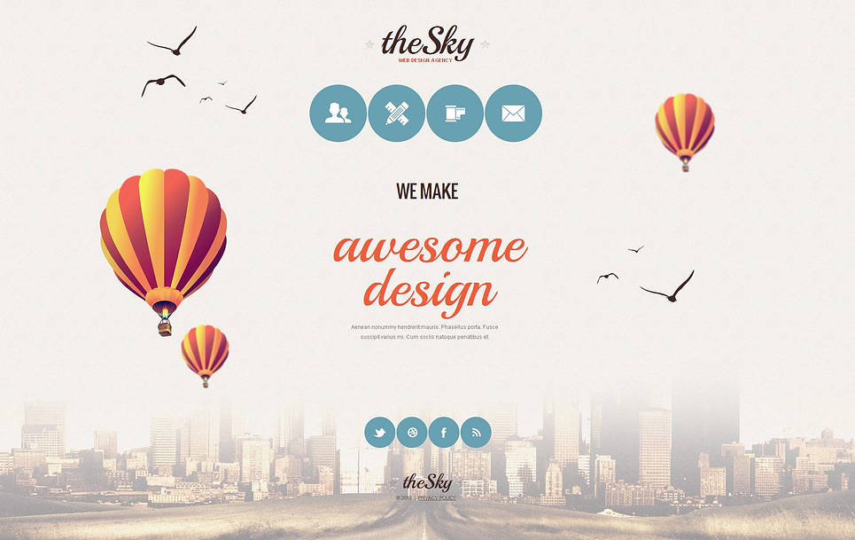 Web Design Agency Template with Stylish Menu - image