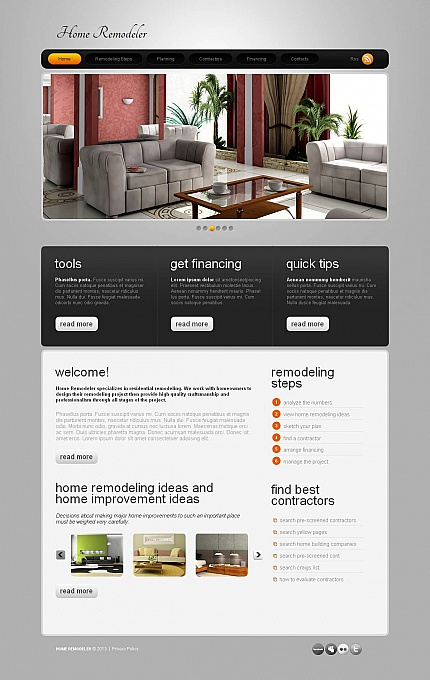 ADOBE Photoshop Template 46404 Home Page Screenshot