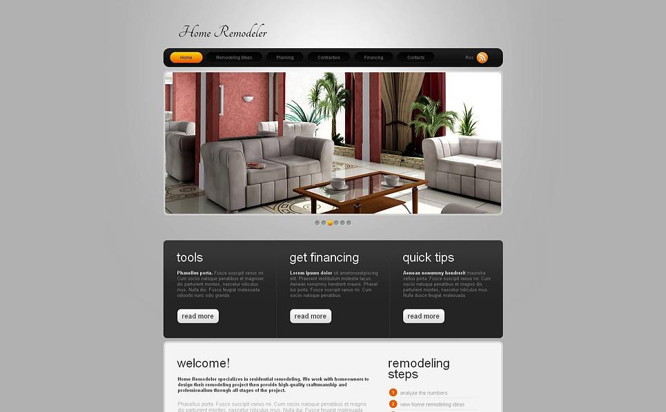 Moto CMS HTML Vorlage für Wohnungsmodernisierung  New Screenshots BIG