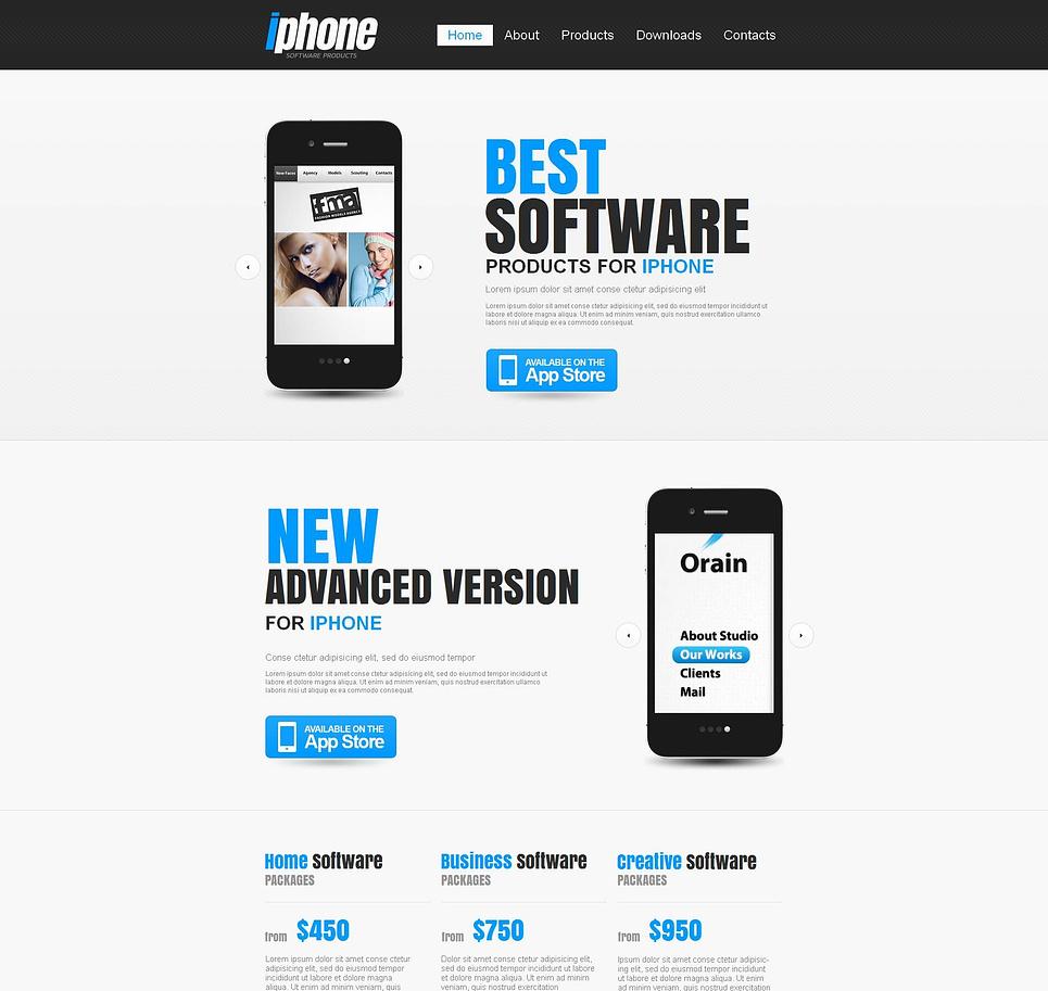 Software Development Website Template - image
