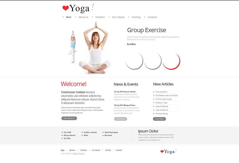 Yoga Website Template Done in Clean Style - image
