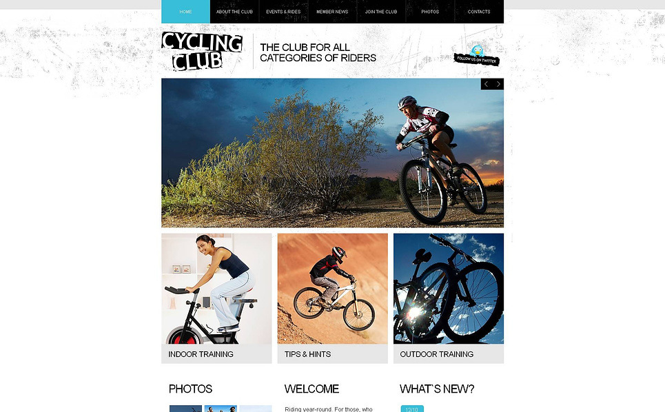 Plantilla Moto CMS HTML #46410 para Sitio de Ciclismo New Screenshots BIG