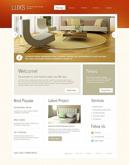 ADOBE Photoshop Template 46411 Home Page Screenshot