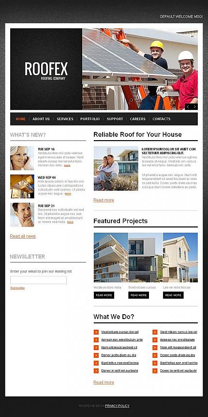 ADOBE Photoshop Template 46415 Home Page Screenshot
