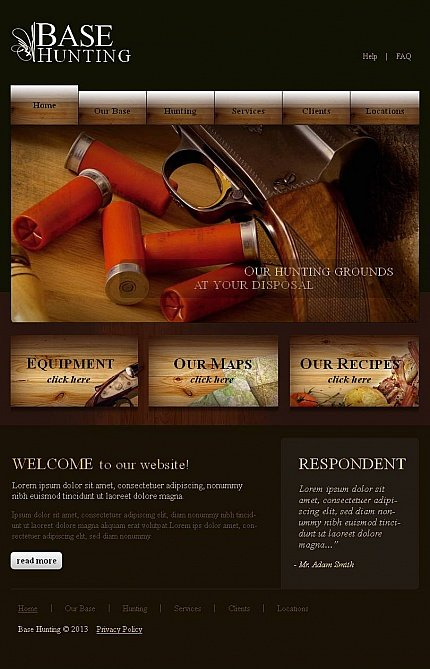 ADOBE Photoshop Template 46420 Home Page Screenshot