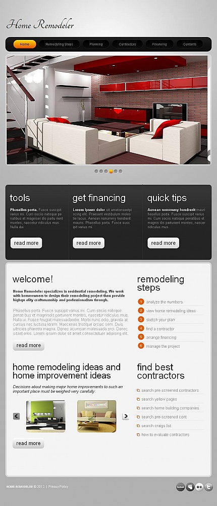 ADOBE Photoshop Template 46426 Home Page Screenshot