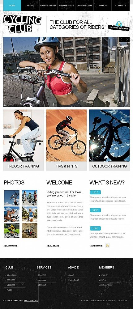 ADOBE Photoshop Template 46430 Home Page Screenshot