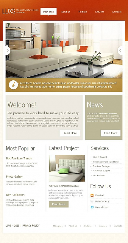 ADOBE Photoshop Template 46431 Home Page Screenshot