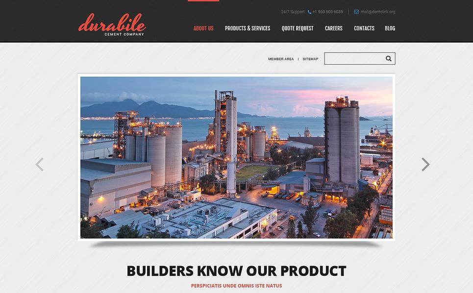 Responsive Website template over Cement  New Screenshots BIG