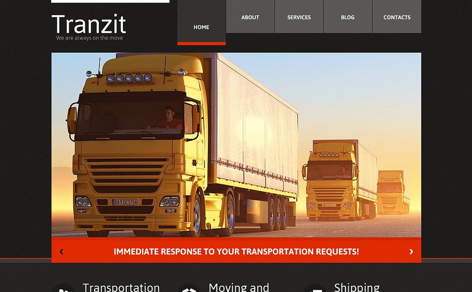 Responsive Website Vorlage für Fuhrunternehmen  New Screenshots BIG