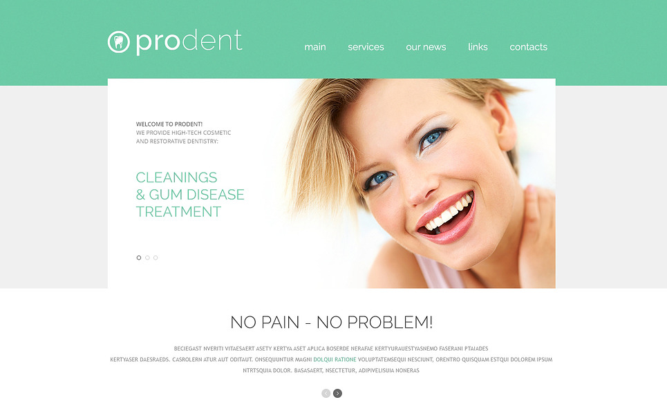 Responsive Website Vorlage für Zahnmedizin  New Screenshots BIG