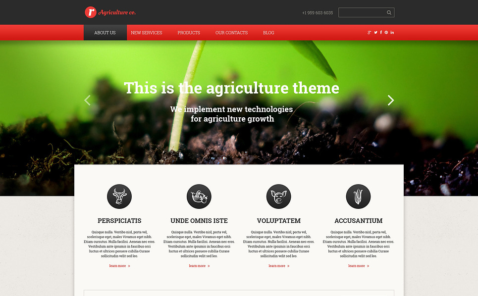 Responsive Website Vorlage für Farm  New Screenshots BIG