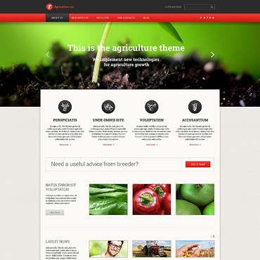 Agriculture Templates | Website Templates