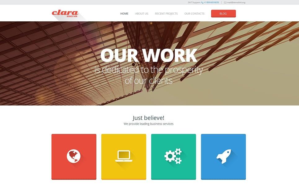 Responsive Website template over Verkoop Diensten  New Screenshots BIG