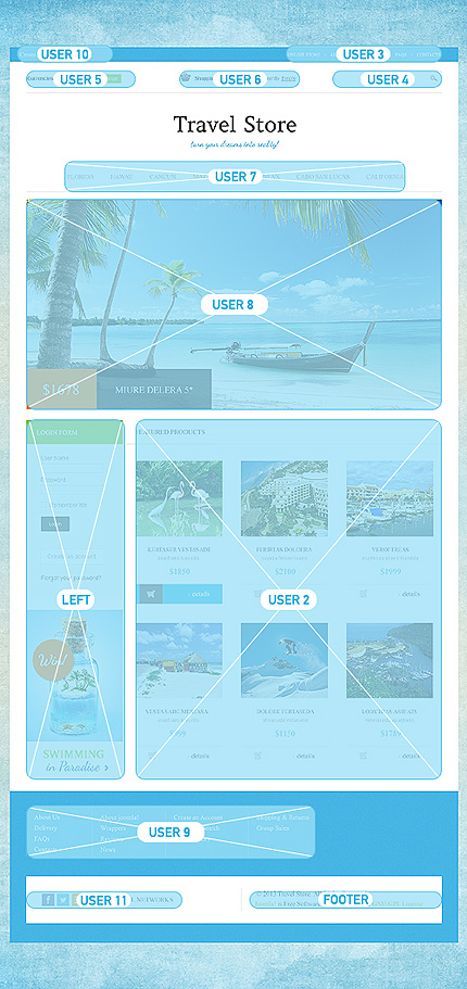 ADOBE Photoshop Template 46448 Home Page Screenshot