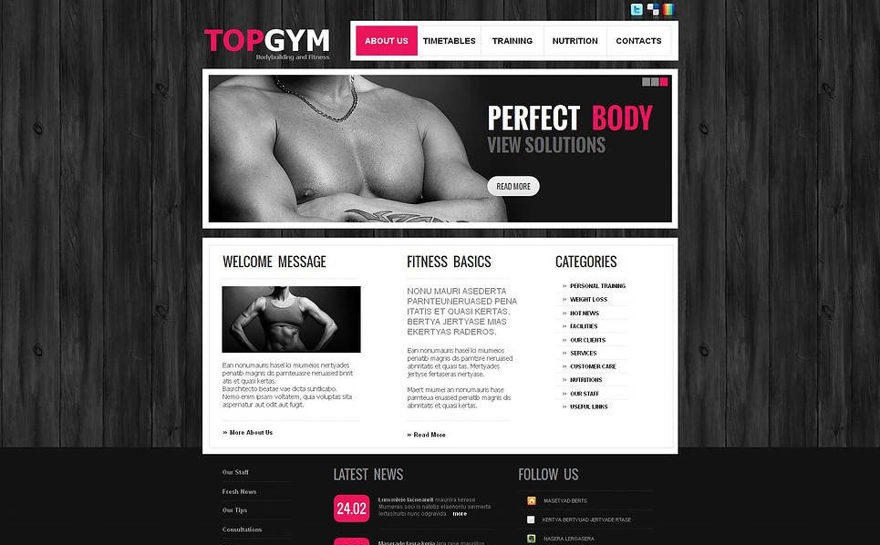Moto CMS HTML Vorlage für Bodybuilding  New Screenshots BIG