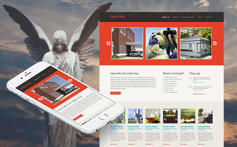 MotoCMS HTML шаблон на тему похоронне бюро New Screenshots BIG