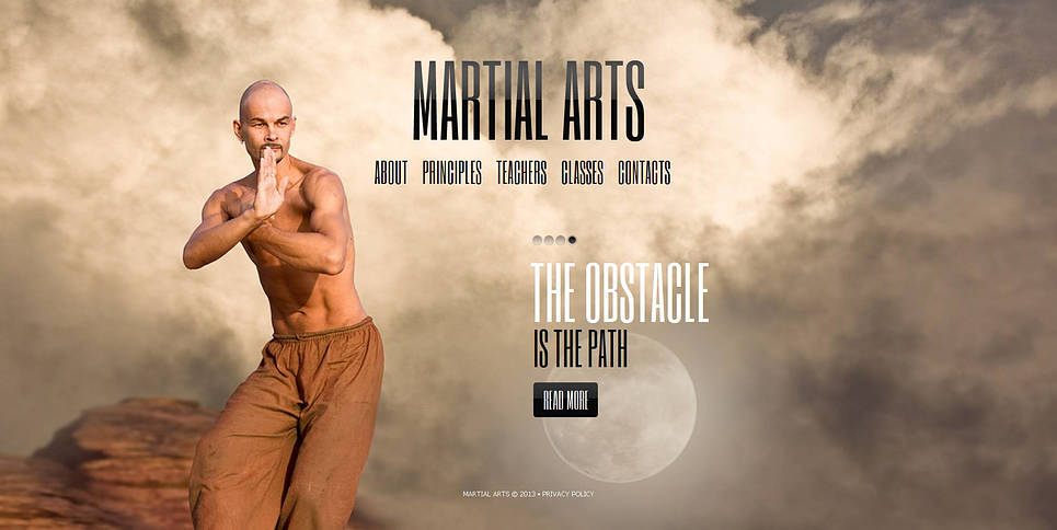 Karate Website Template with Full-Screen Background Photo - image
