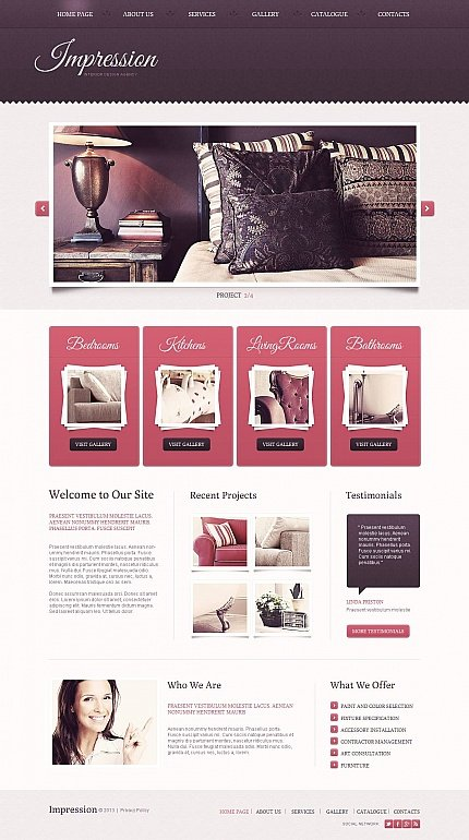 ADOBE Photoshop Template 46460 Home Page Screenshot