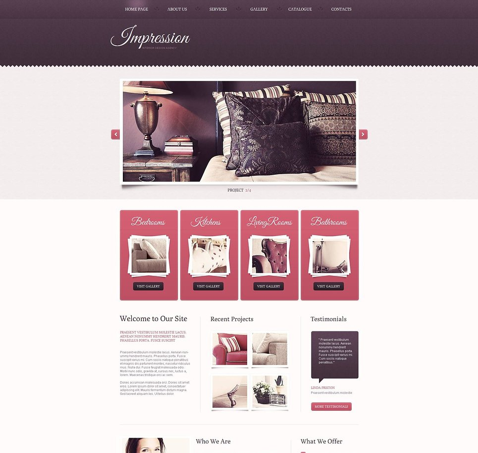 Interior Design Studio Web Template with jQuery Slider - image