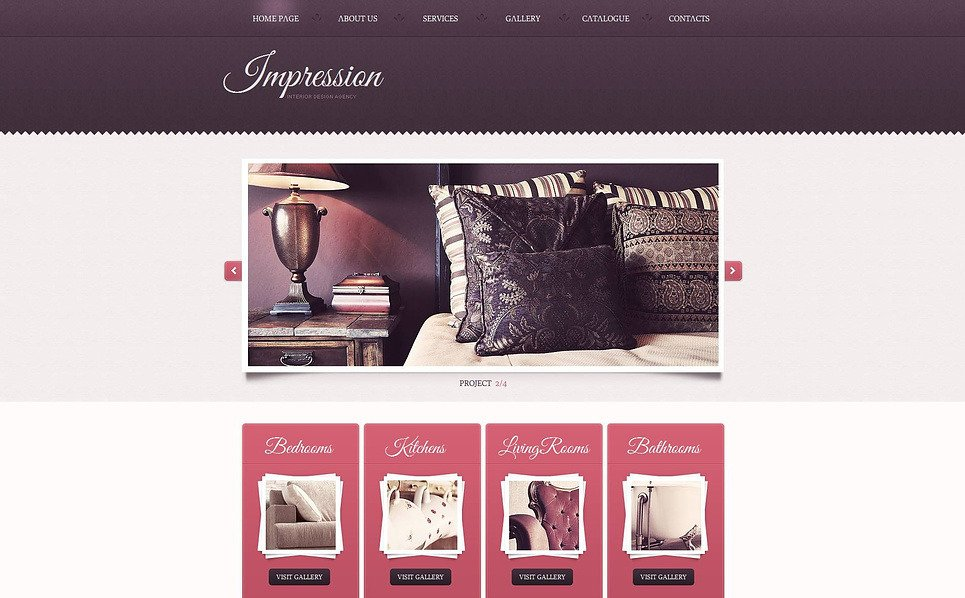 Premium Moto CMS HTML Template over Interieur-design  New Screenshots BIG