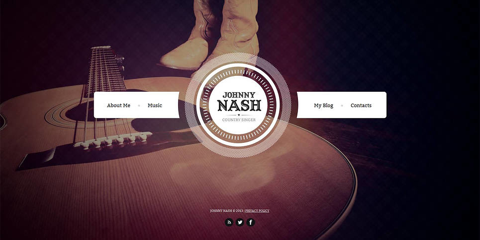 Modèle Moto CMS HTML  pour site de chanteur New Screenshots BIG