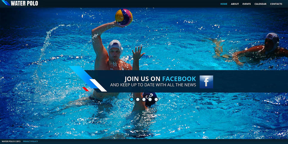 Water Polo Club Website Template - image