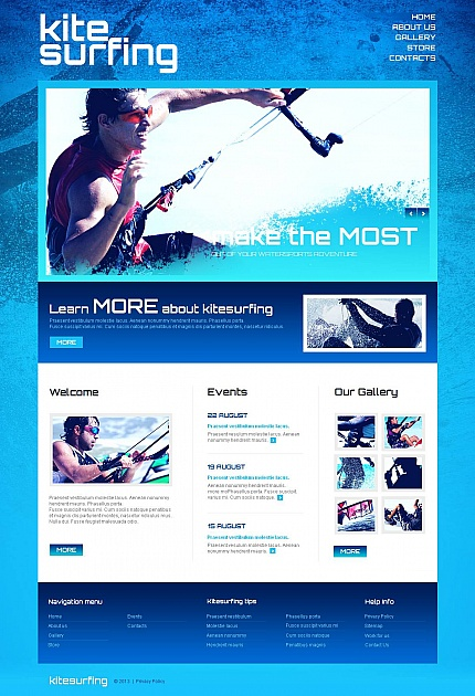 ADOBE Photoshop Template 46465 Home Page Screenshot