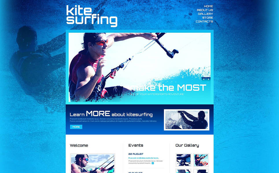 Moto CMS HTML Vorlage für Kitesurfen  New Screenshots BIG