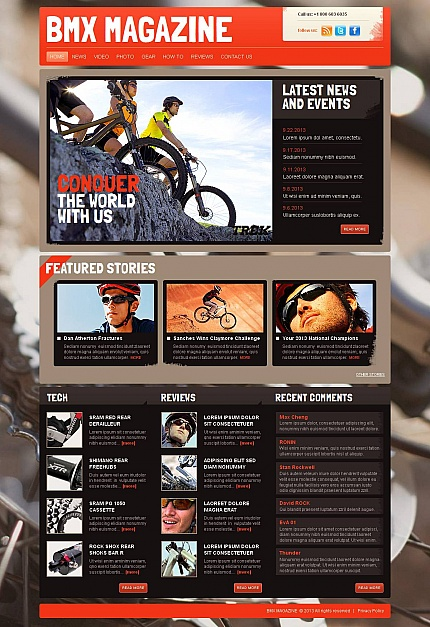 ADOBE Photoshop Template 46468 Home Page Screenshot