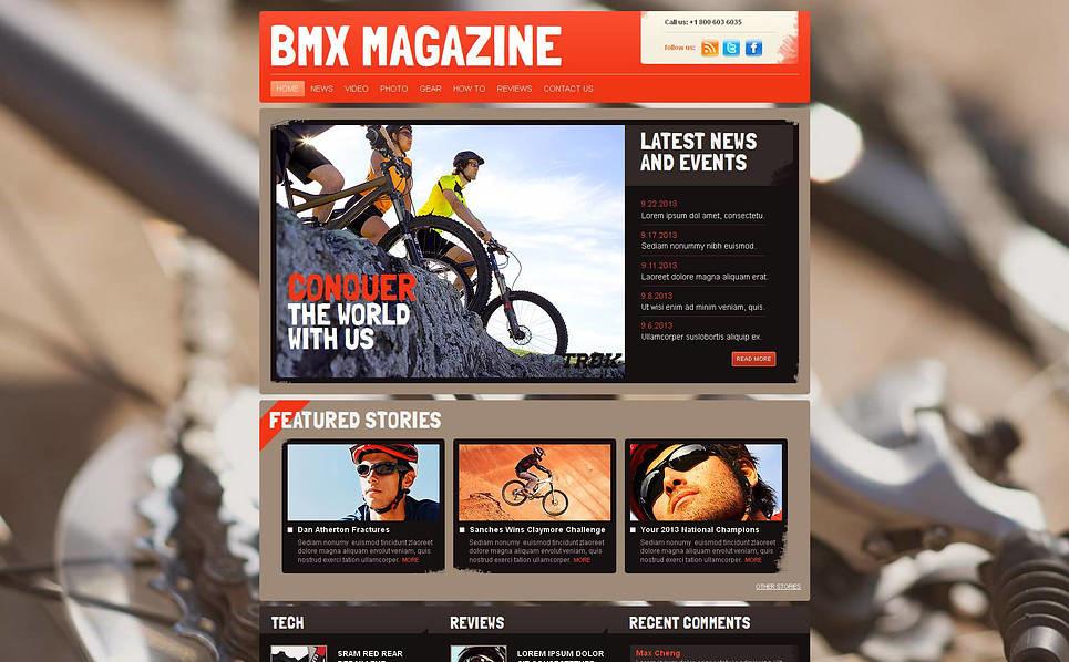 Szablon Moto CMS HTML #46468 na temat: BMX New Screenshots BIG