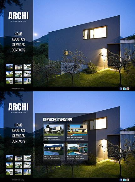 ADOBE Photoshop Template 46469 Home Page Screenshot