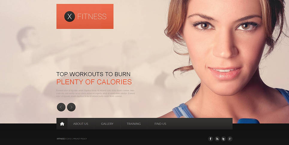 Fitness Website Template with a Full-screen Background Gallery - image