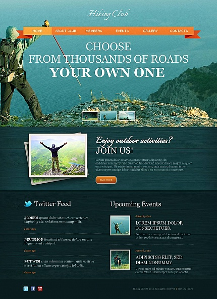 ADOBE Photoshop Template 46472 Home Page Screenshot