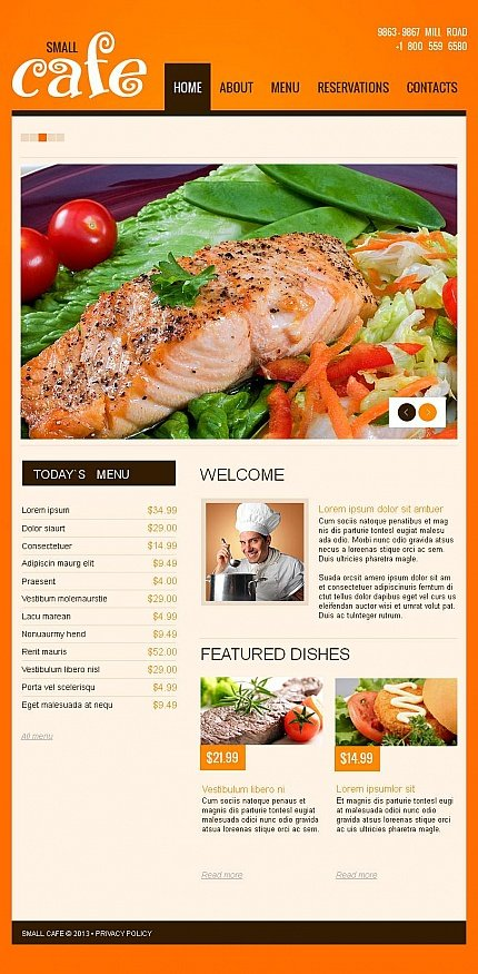 ADOBE Photoshop Template 46491 Home Page Screenshot