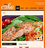Cafe & Restaurant Facebook HTML CMS  Template 46491
