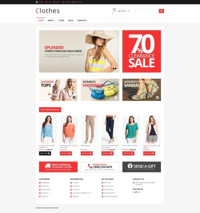 Адаптивный WooCommerce шаблон №46434 на тему магазин одежды #46434
