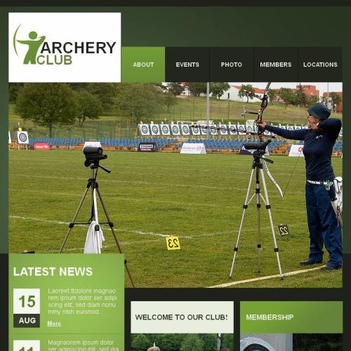 Archery Club - Facebook HTML CMS Template