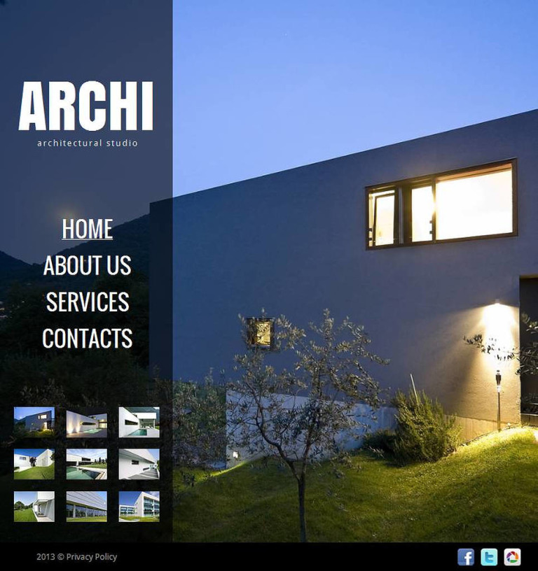Architecture Facebook HTML CMS Template New Screenshots BIG