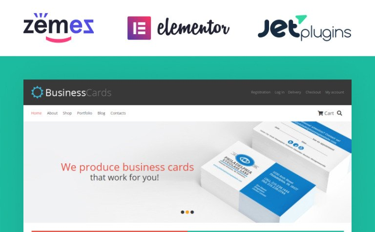 Business cards store woocommerce theme 46435 business cards store woocommerce theme new screenshots big reheart Images