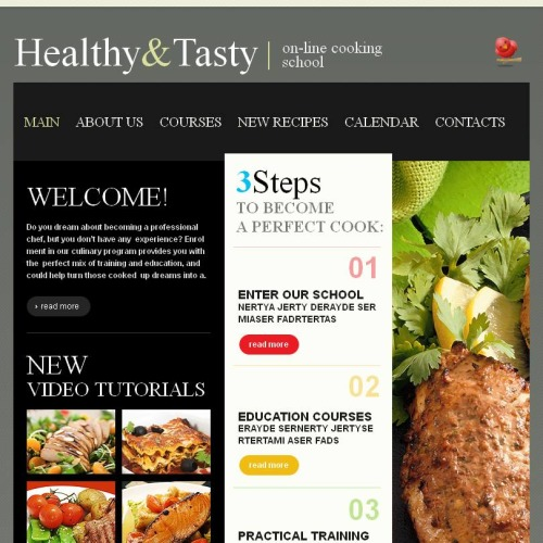 Health And Tasty - Facebook HTML CMS Template