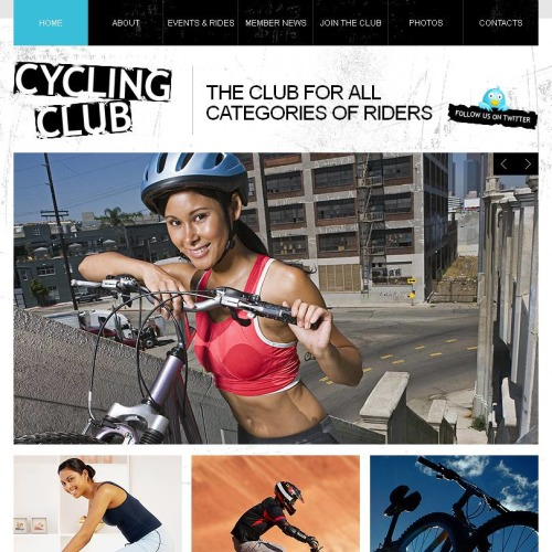 Cycling Club - Facebook HTML CMS Template
